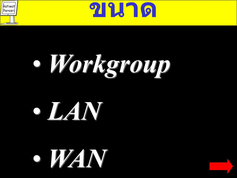 ขนาด Workgroup LAN WAN
