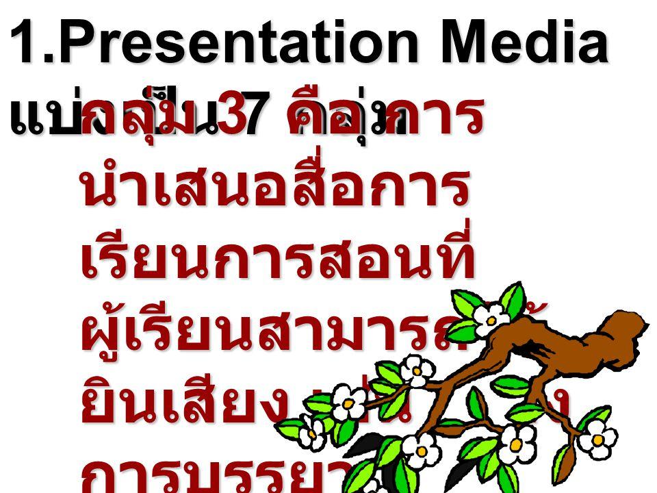 1.Presentation Media แบ่งเป็น 7 กลุ่ม