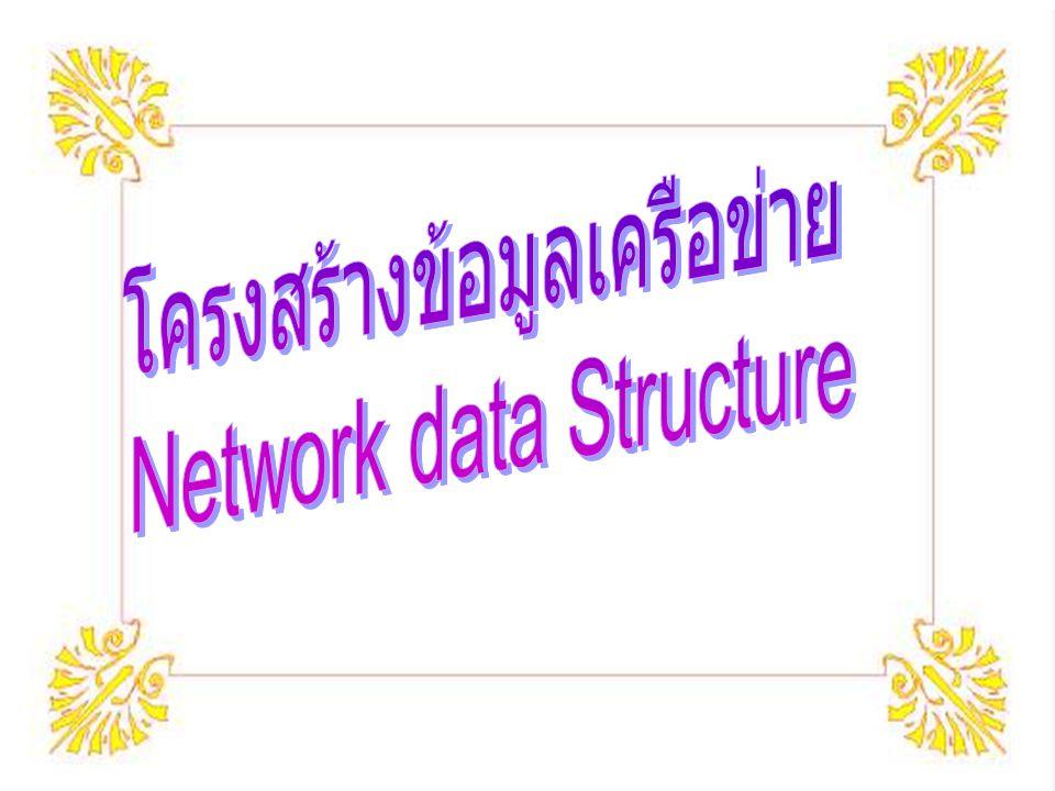 โครงสร้างข้อมูลเครือข่าย Network data Structure