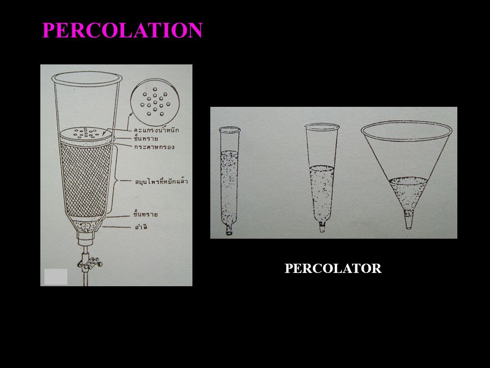 PERCOLATION PERCOLATOR