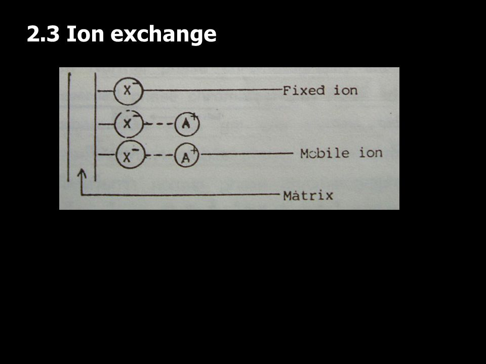 2.3 Ion exchange