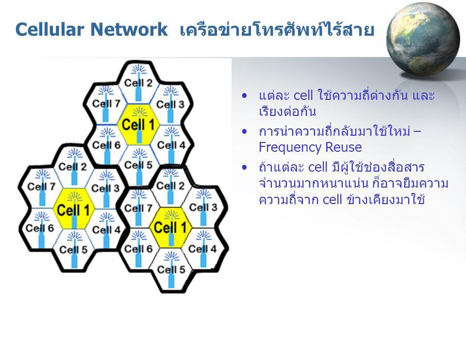 Cellular Network เครือข่ายโทรศัพท์ไร้สาย