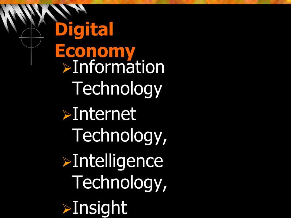 Digital Economy Information Technology. Internet Technology, Intelligence Technology, Insight Technology ,