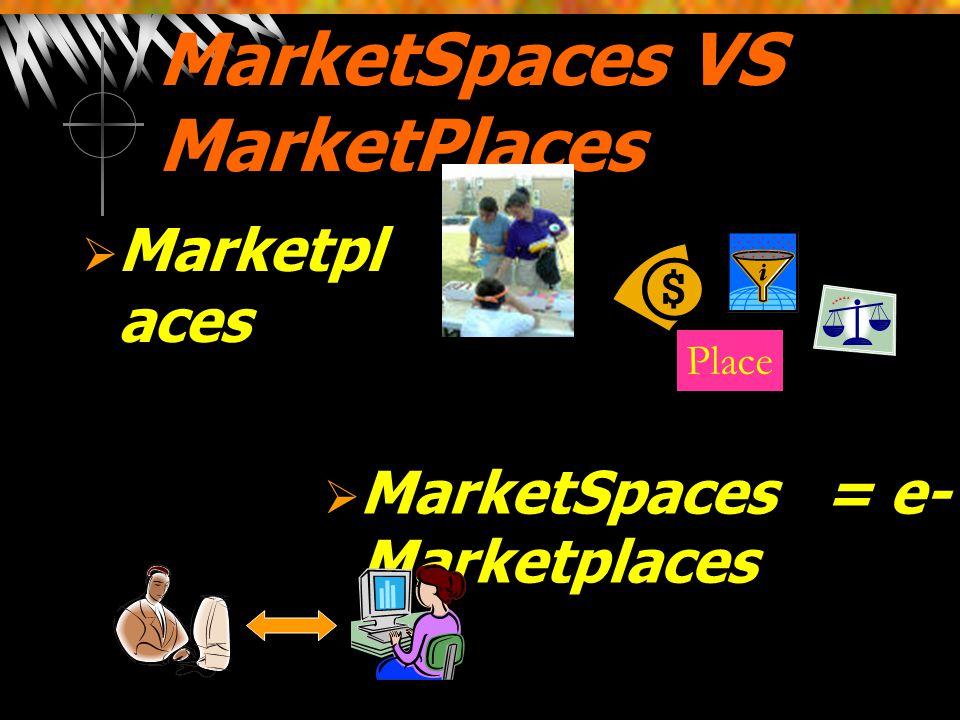 MarketSpaces VS MarketPlaces