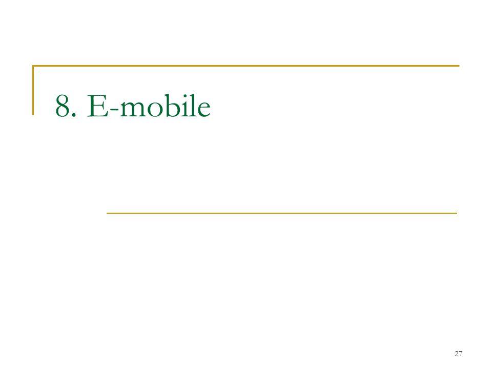 8. E-mobile