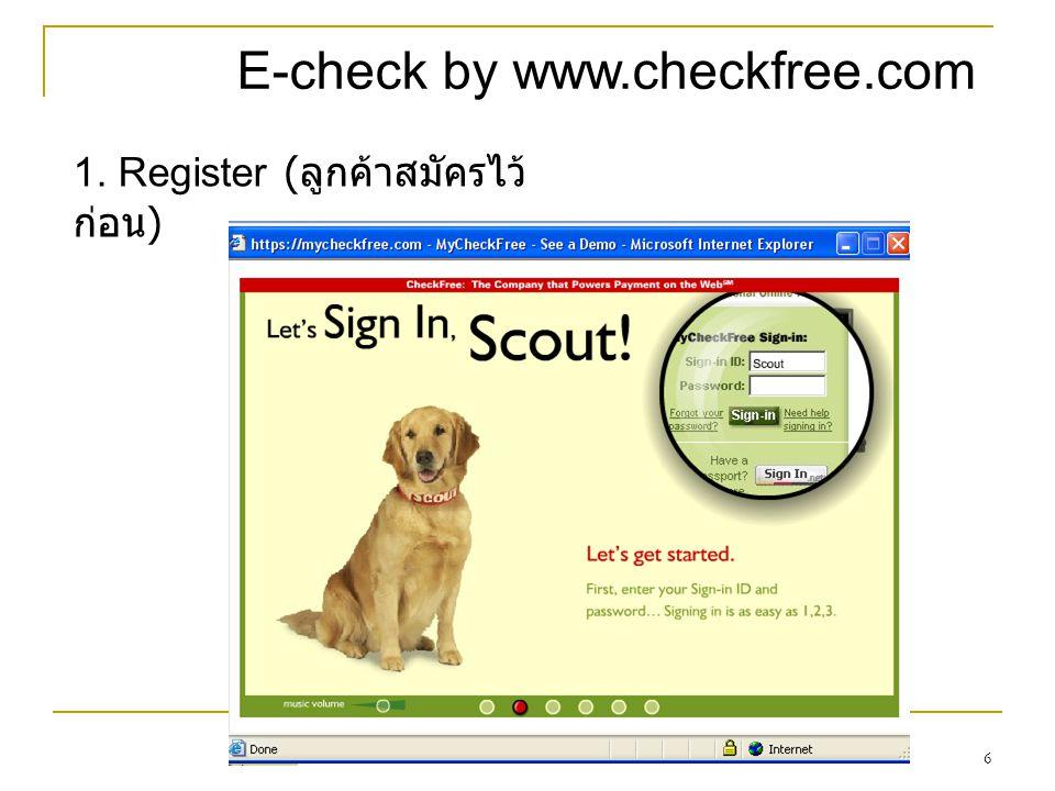 E-check by www.checkfree.com