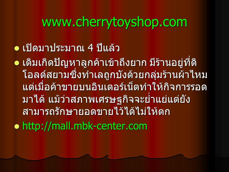 www.cherrytoyshop.com เปิดมาประมาณ 4 ปีแล้ว