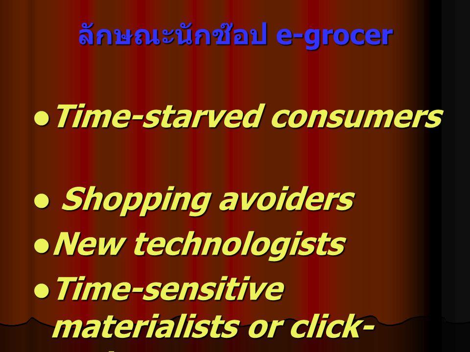 ลักษณะนักช๊อป e-grocer