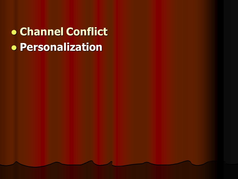 Channel Conflict Personalization