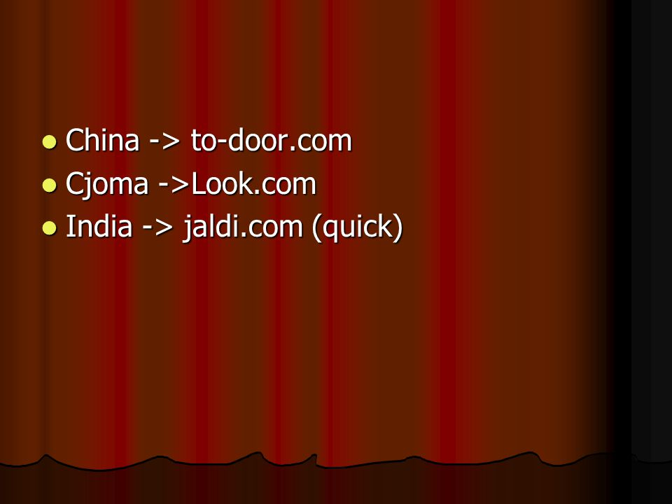 China -> to-door.com