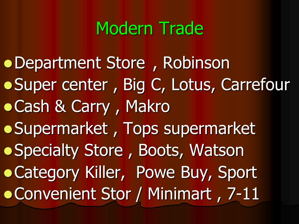 Modern Trade Department Store , Robinson
