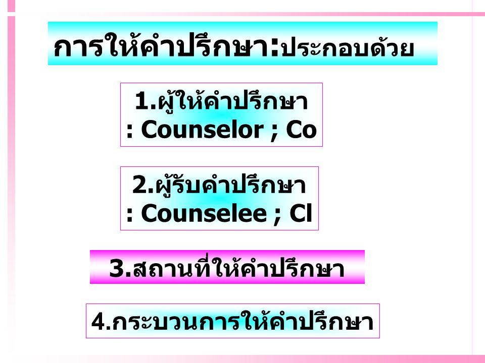 4.กระบวนการให้คำปรึกษา