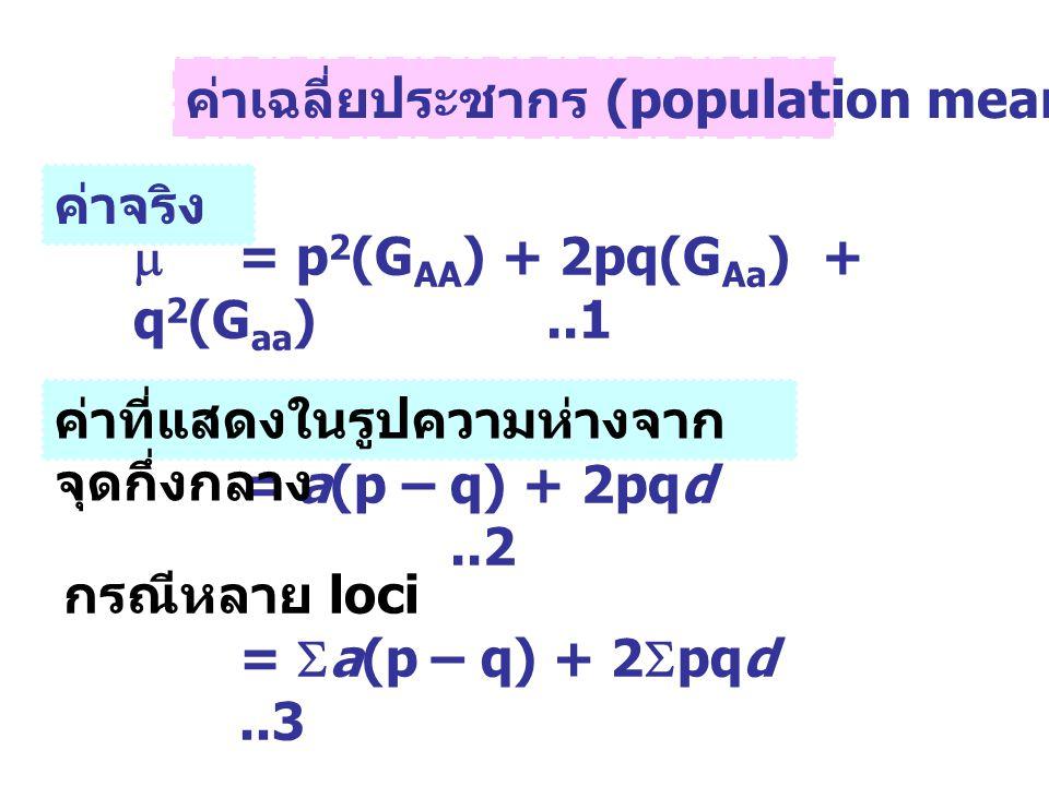 ค่าเฉลี่ยประชากร (population mean, )