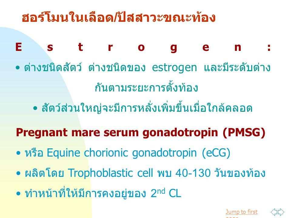 ฮอร์โมนในเลือด/ปัสสาวะขณะท้อง