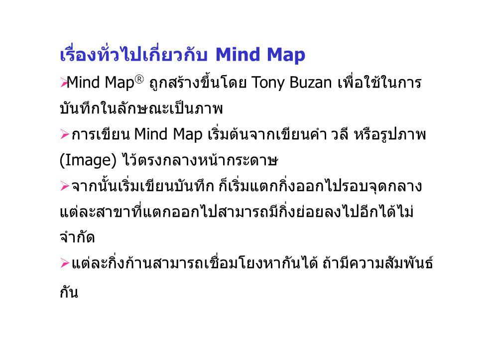 เรื่องทั่วไปเกี่ยวกับ Mind Map