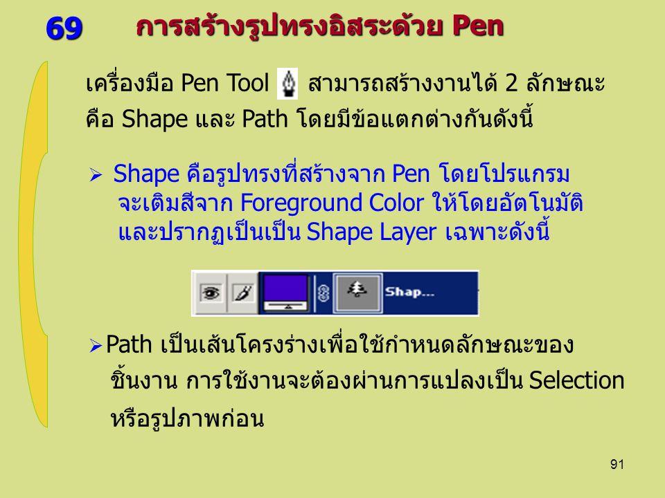 69 การสร้างรูปทรงอิสระด้วย Pen
