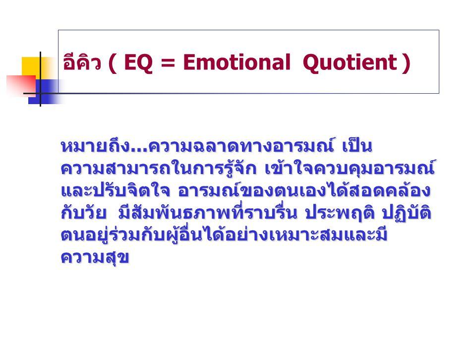 อีคิว ( EQ = Emotional Quotient )