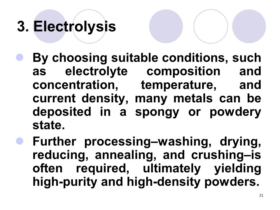 3. Electrolysis