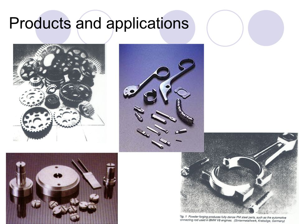 Products and applications