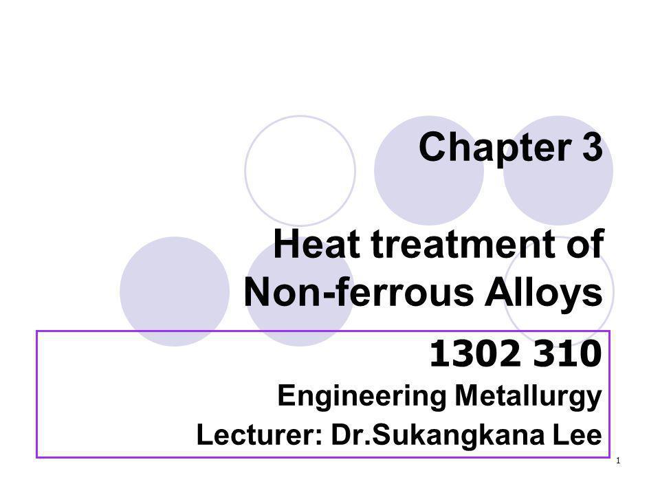 Chapter 3 Heat treatment of Non-ferrous Alloys