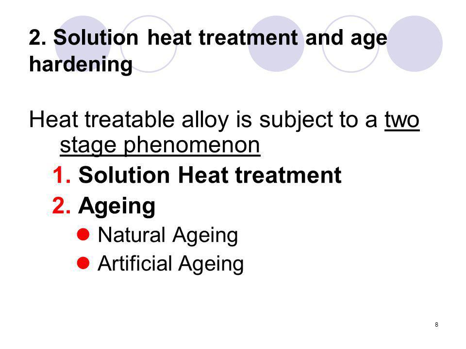 2. Solution heat treatment and age hardening