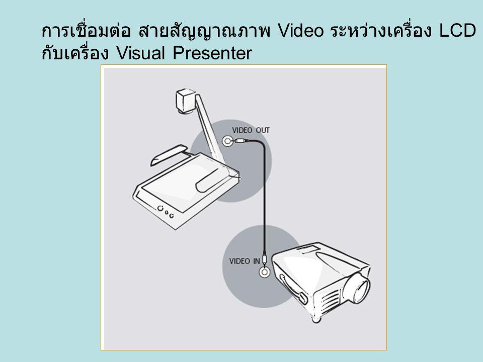 การเชื่อมต่อ สายสัญญาณภาพ Video ระหว่างเครื่อง LCD Projector