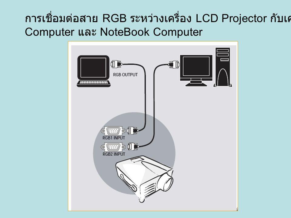 การเชื่อมต่อสาย RGB ระหว่างเครื่อง LCD Projector กับเครื่อง PC