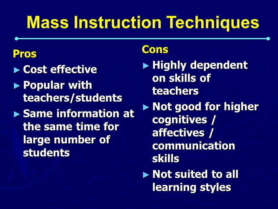 Mass Instruction Techniques