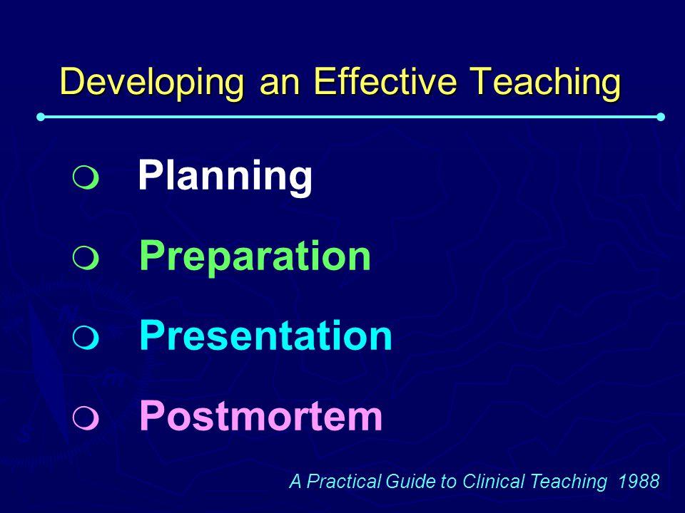 Developing an Effective Teaching