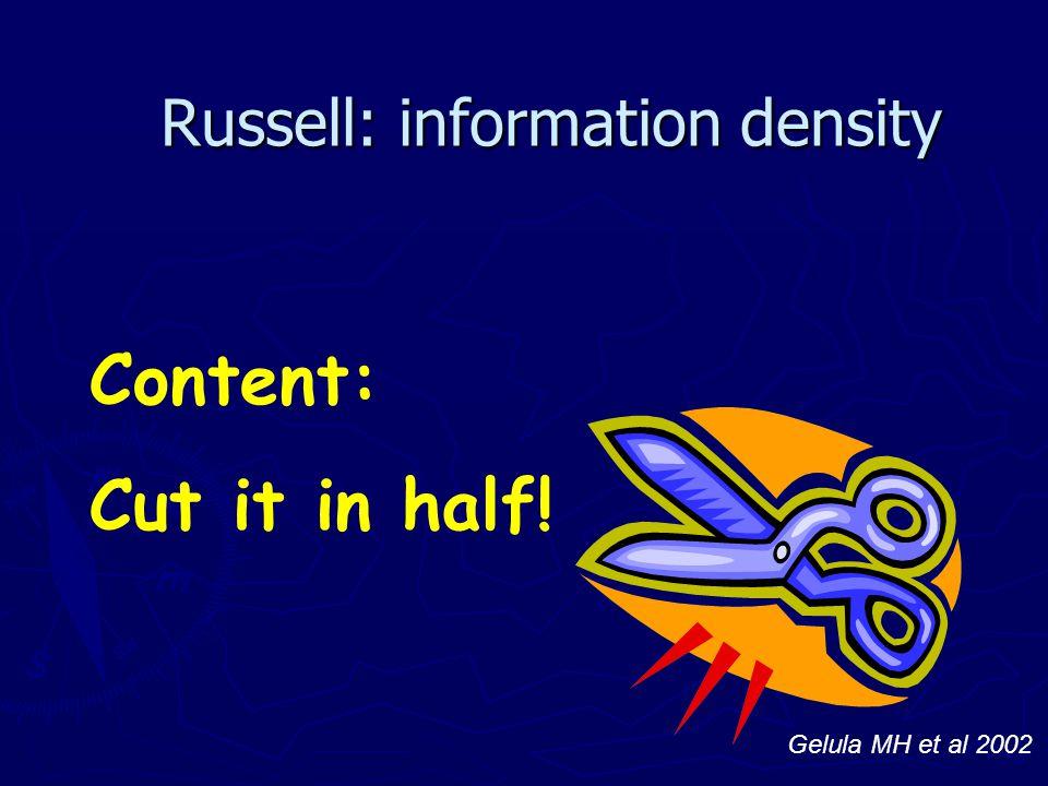 Russell: information density
