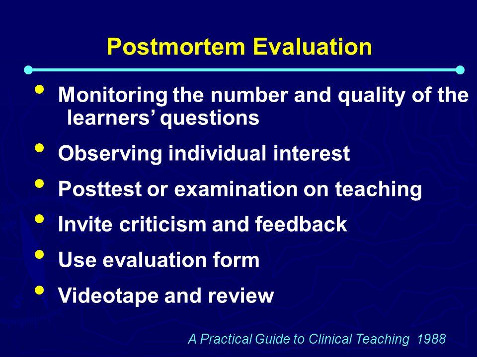 Postmortem Evaluation