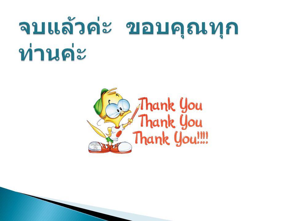จบแล้วค่ะ ขอบคุณทุกท่านค่ะ