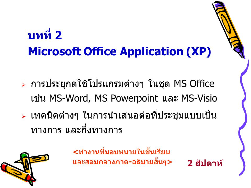 Microsoft Office Application (XP)