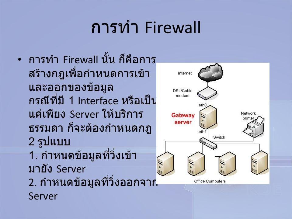 การทำ Firewall