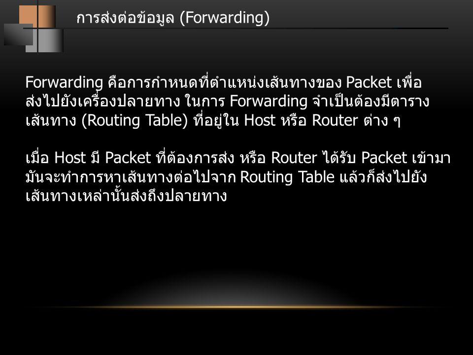 การส่งต่อข้อมูล (Forwarding)