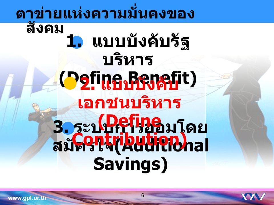 1. แบบบังคับรัฐบริหาร (Define Benefit)
