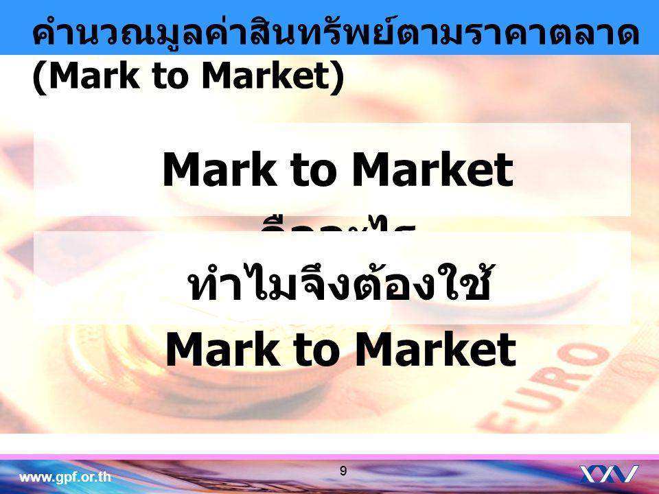 ทำไมจึงต้องใช้ Mark to Market