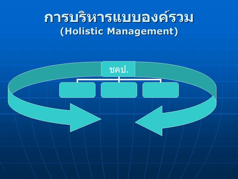 การบริหารแบบองค์รวม (Holistic Management)