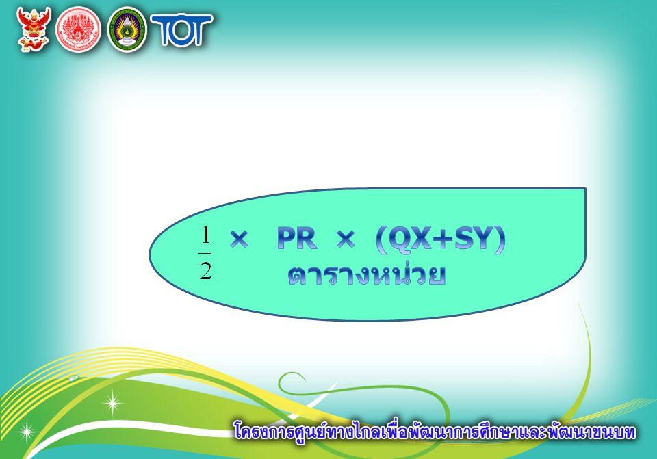 × PR × (QX+SY) ตารางหน่วย