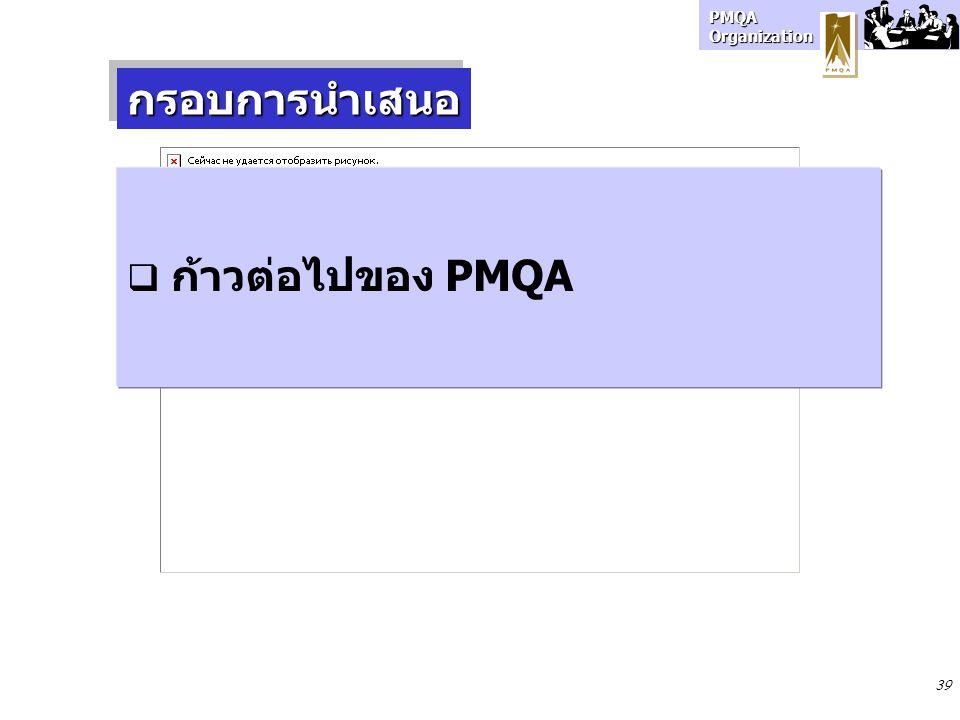 กรอบการนำเสนอ ก้าวต่อไปของ PMQA 39 39