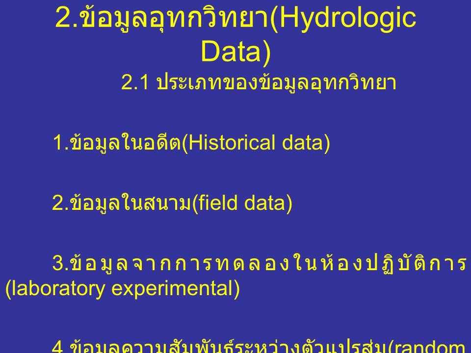2.ข้อมูลอุทกวิทยา(Hydrologic Data)