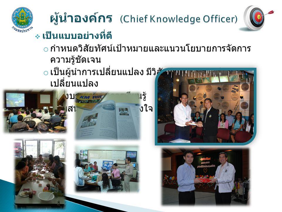ผู้นำองค์กร (Chief Knowledge Officer)