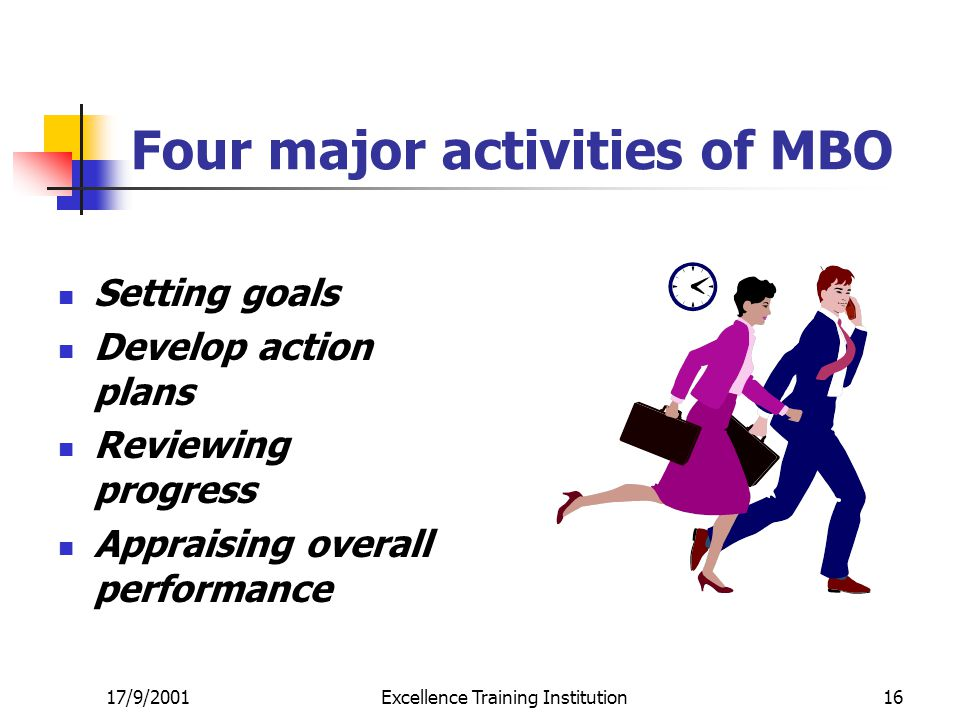 Four major activities of MBO