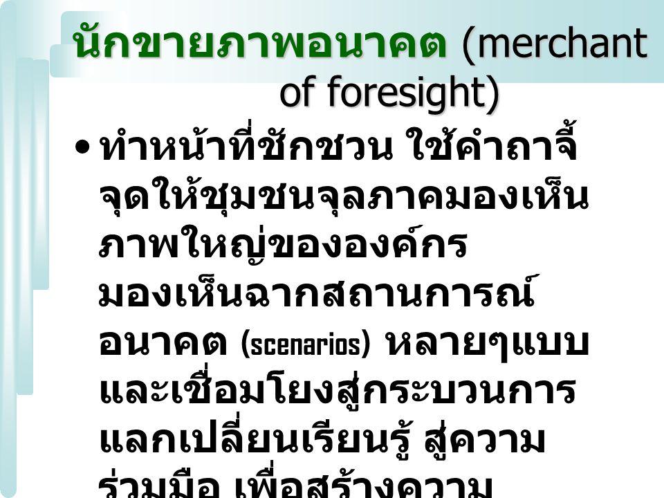 นักขายภาพอนาคต (merchant of foresight)