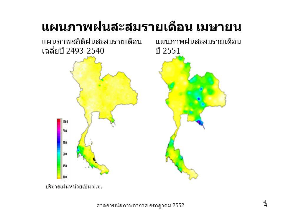 แผนภาพฝนสะสมรายเดือน เมษายน