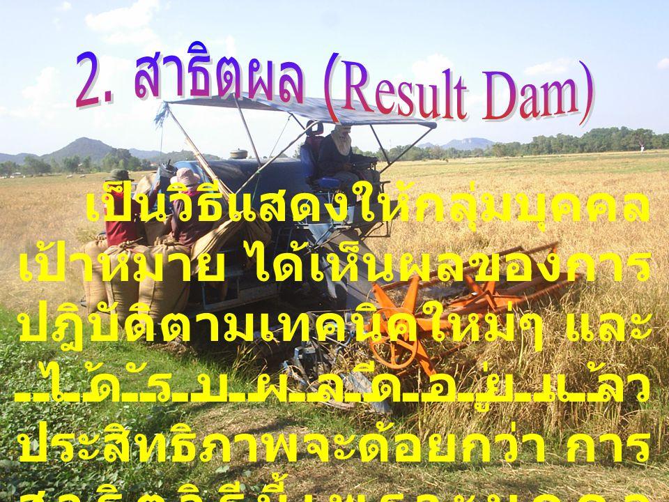 2. สาธิตผล (Result Dam)