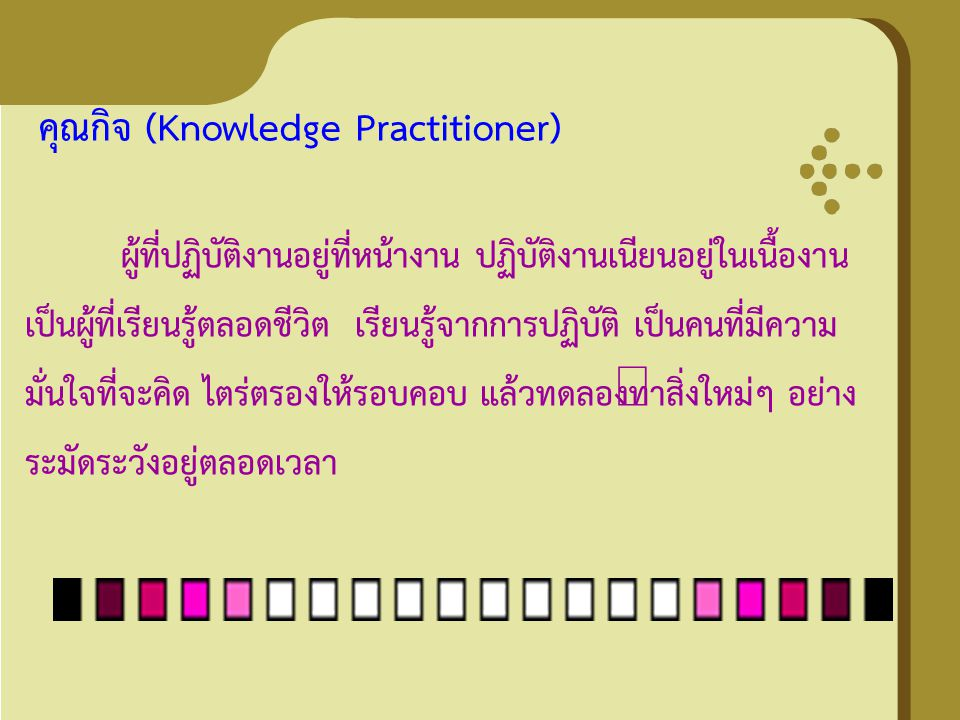 คุณกิจ (Knowledge Practitioner)