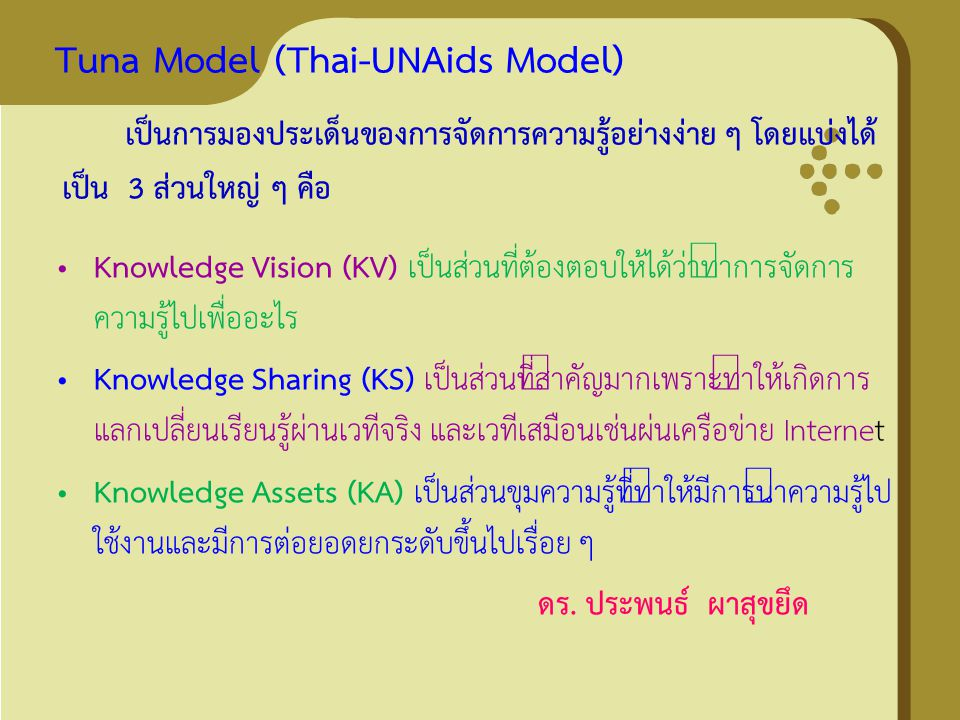 Tuna Model (Thai-UNAids Model)