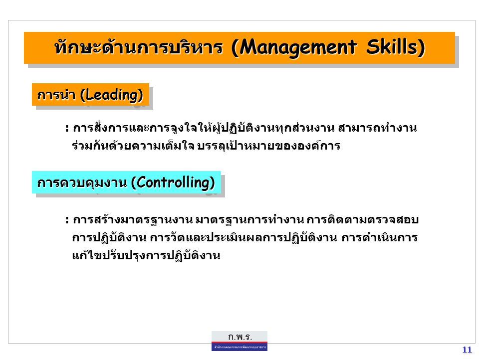 ทักษะด้านการบริหาร (Management Skills)