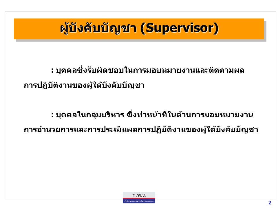 ผู้บังคับบัญชา (Supervisor)